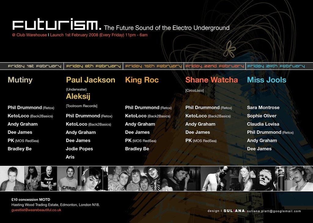 RA: Futurism Launch at Warehouse LDN, London (2008)