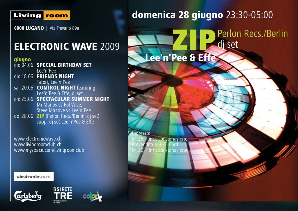 RA: Electronic Wave presents Zip at Living Room Club, Switzerland (2009)