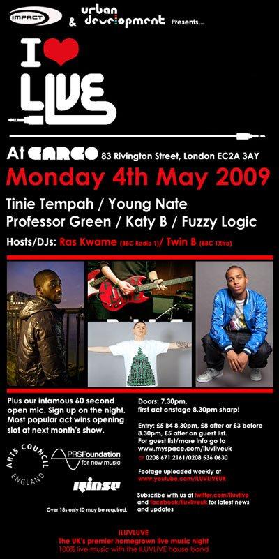 RA: Iluvlive at Cargo, London (2009)