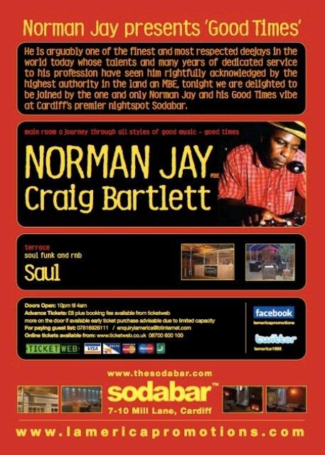 RA: Norman Jay presents 'Good Times' at Sodabar, West +