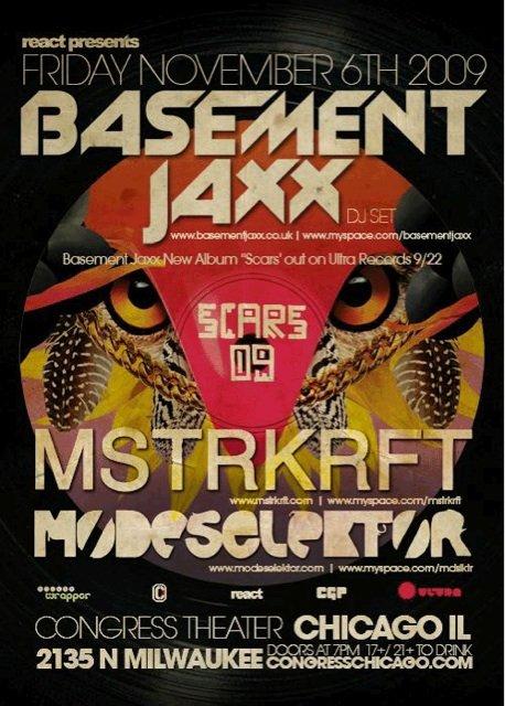 basement jaxx mstrkrft modeselektor local support