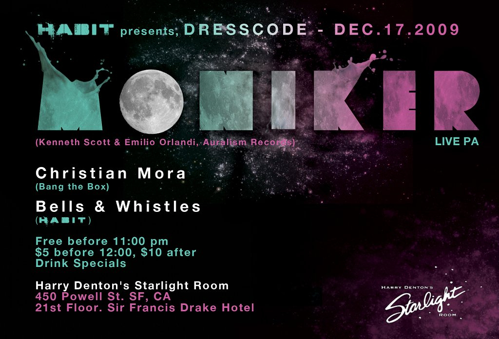 RA: Dresscode feat Moniker Live Pa at Harry Denton's Starlight Room
