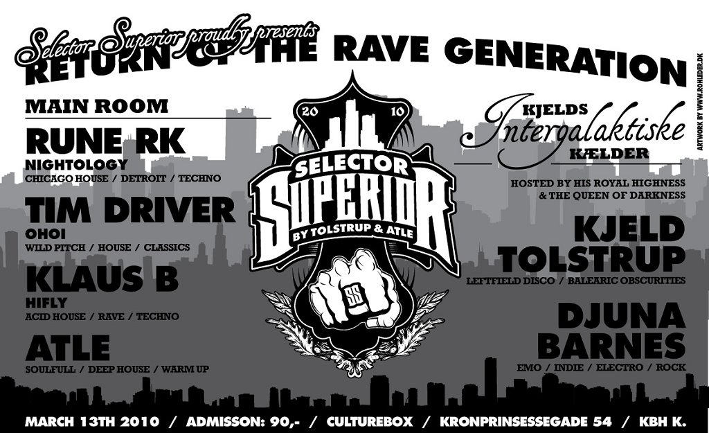 Ra return of the rave generation at culture box denmark for Deep house rave