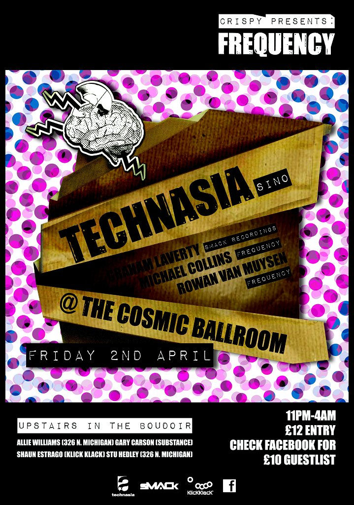 ra crispy presents frequency featuring technasia at cosmic ballroom newcastle 2010. Black Bedroom Furniture Sets. Home Design Ideas