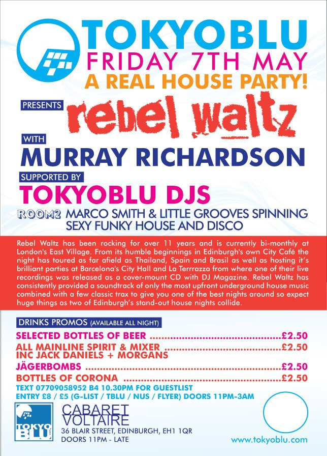 RA: Tokyoblu presents Rebel Waltz with Murray Richardson at