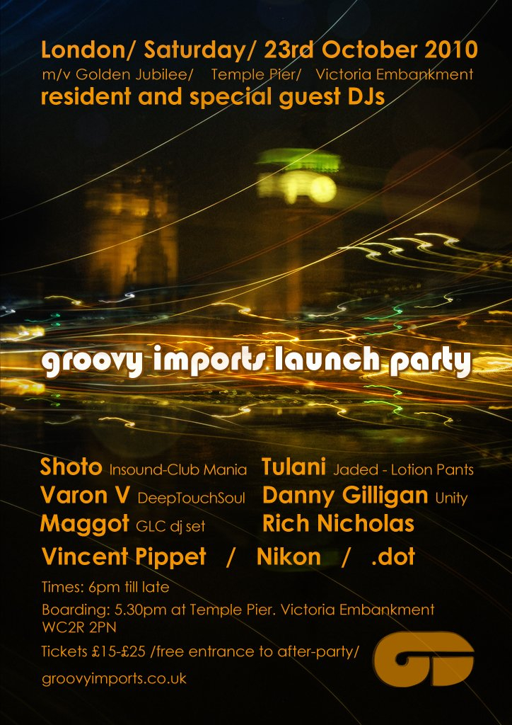 Ra Groovy Imports Boat Party At Golden Jubilee Yacht Club London