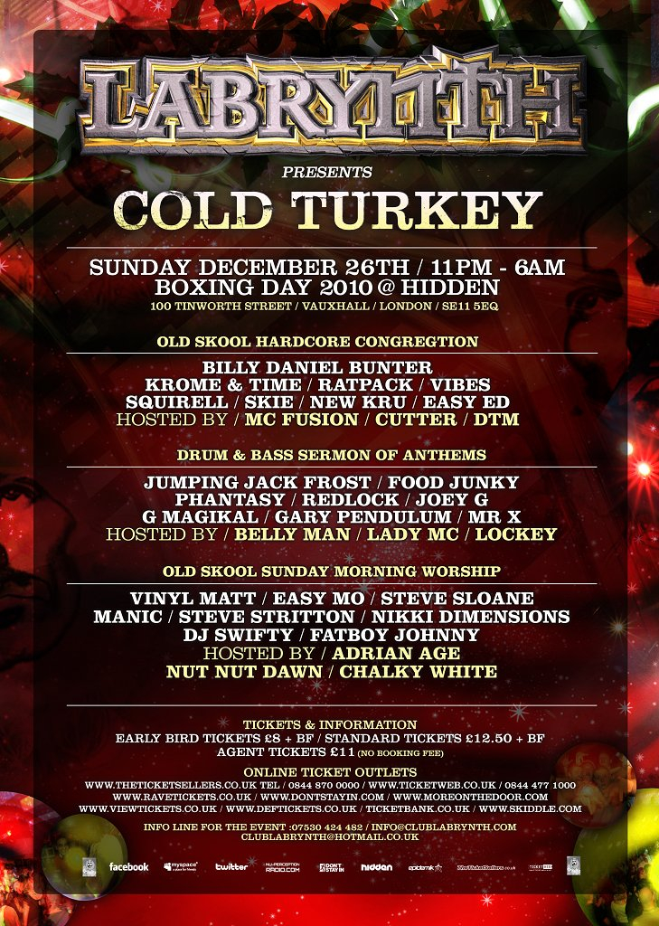 RA: Labrynth presents Cold Turkey On Boxing Day at Hidden, London (2010)