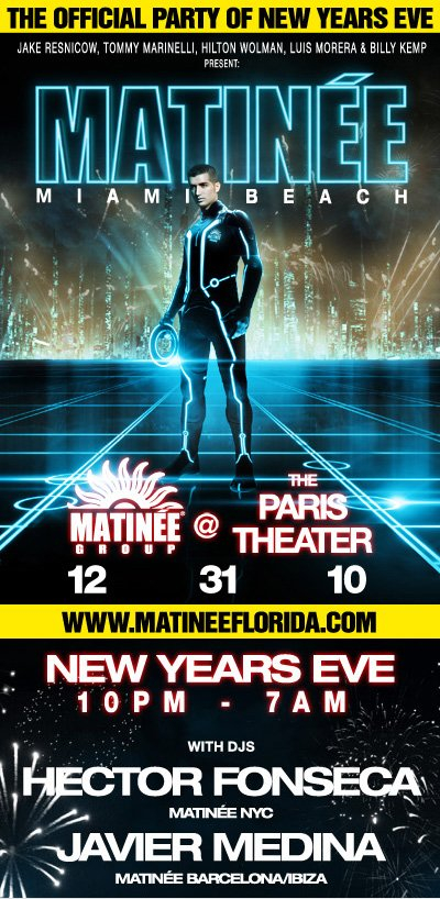 RA: Matinée Miami Beach: The Official Party Of New Year's ...