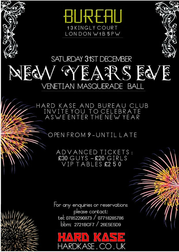 line up tbc nye ball 2012