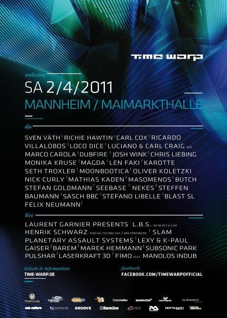 Time warp mannheim dates