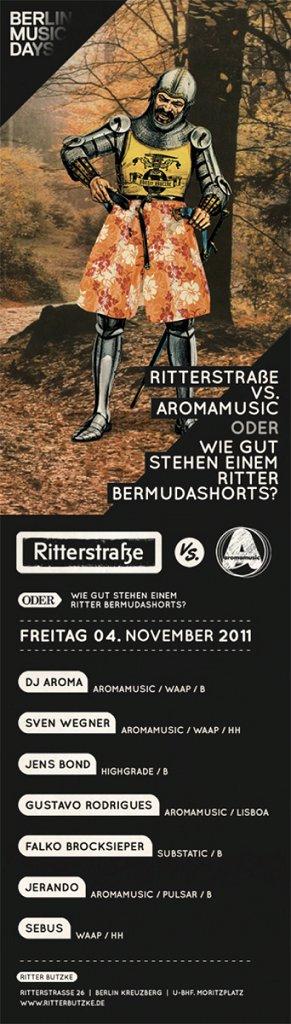 Flyer Aromamusic vs. Ritter Butzke November 2011