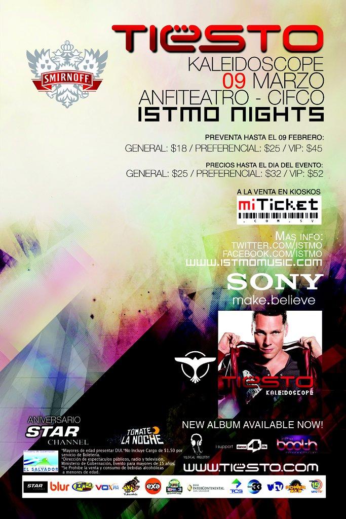 RA: Tiesto - Kaleidoscope Tour - Istmo Night at Feria Internacional