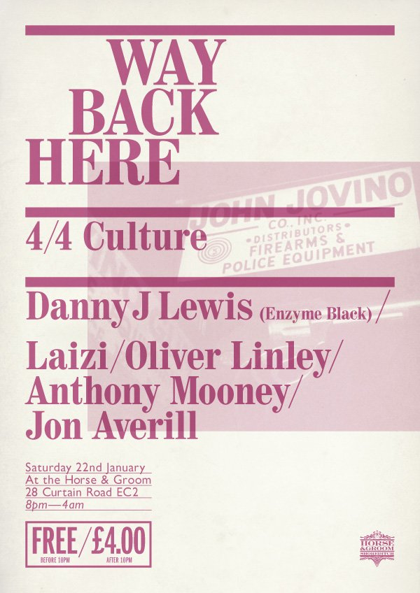 RA: Way Back Here with Danny J Lewis at The Horse & Groom
