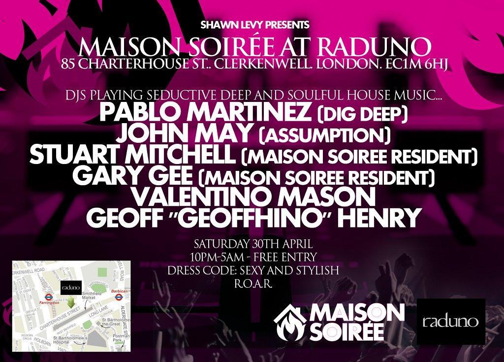 RA: Maison Soiree: Le Lancement at Club Reina, London (2011)