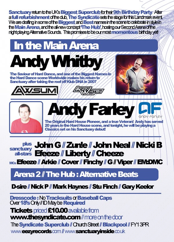 RA: Sanctuary presents Andy Farley & Andy Whitby at The