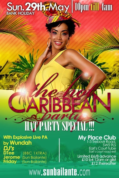 RA The Hot Caribbean Party Bank Holiday Special At My Place