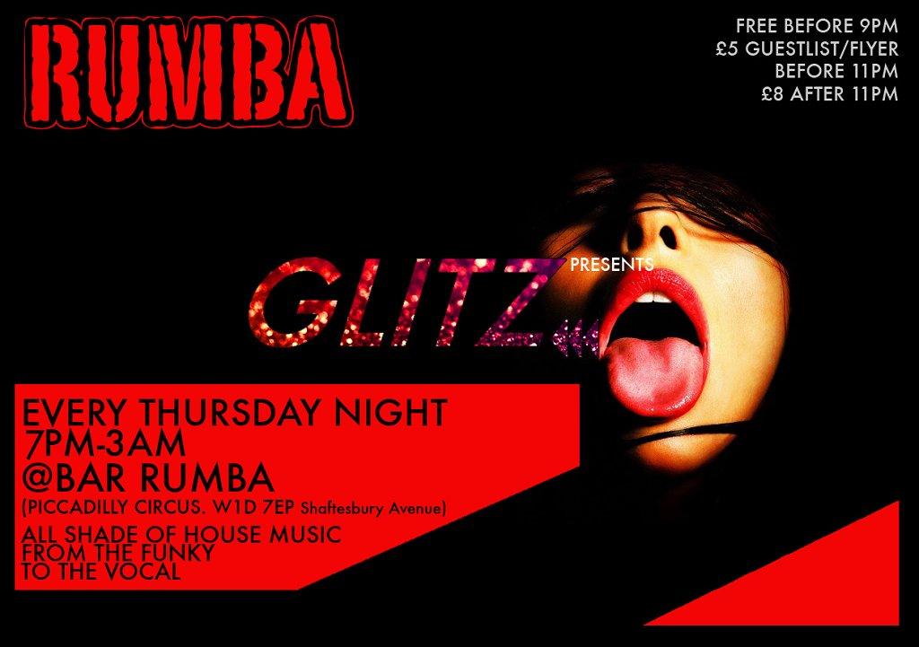 RA: Glitz Thursday Night Prensents The House Party at Bar Rumba