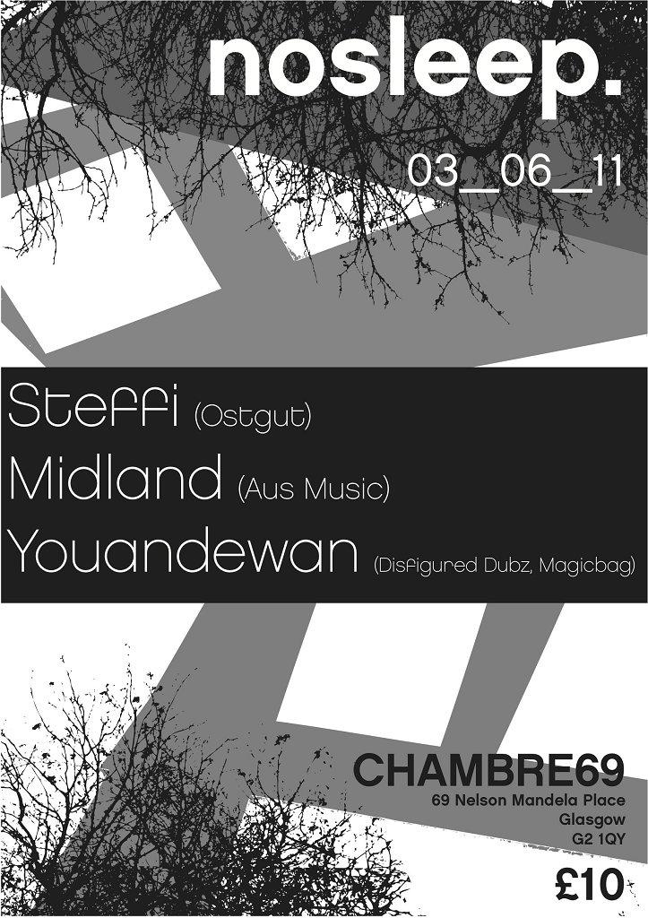 Ra no sleep presents steffi midland youandewan at for Chambre 69 club glasgow