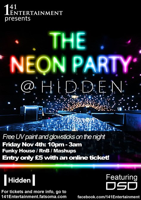 Neon Party Invitation as beautiful invitations sample