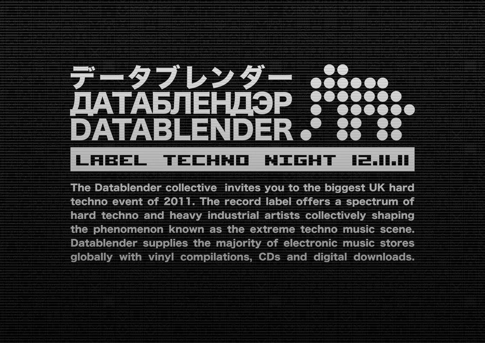 RA: Datablender Label Techno Night at Electrowerkz, London