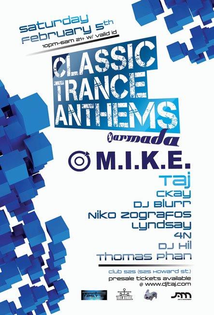 RA: M I K E  / Push - Armada: Classic Trance Anthems at Club