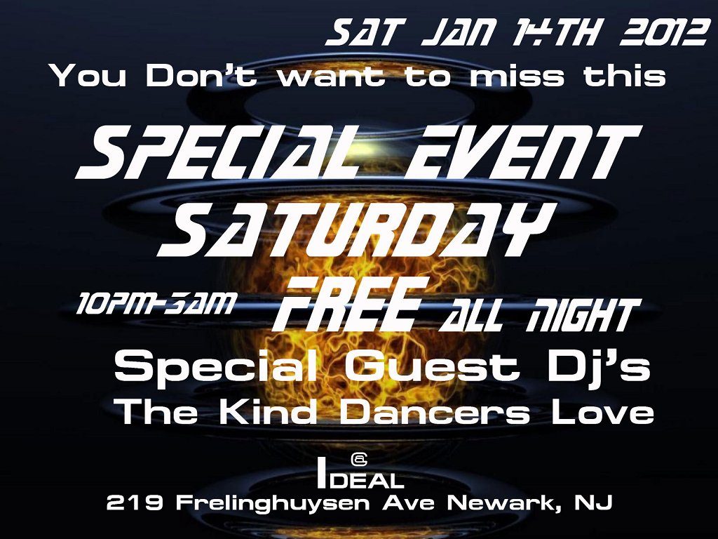 Ra free house music special event saturday at ideal at for Jersey house music