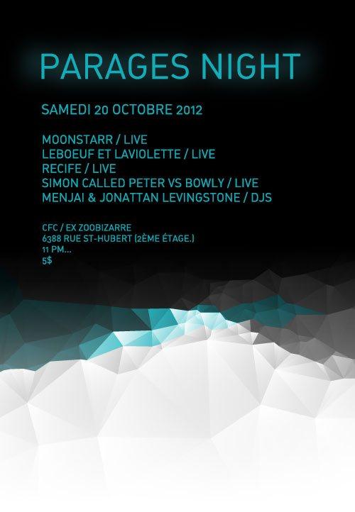 RA Parages Night At CFC Montreal 2012