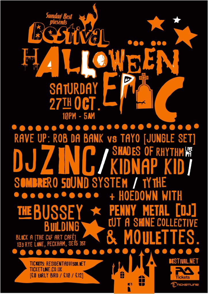 Ra Bestival Halloween Party Rave Vs Hoedown At Clf Art