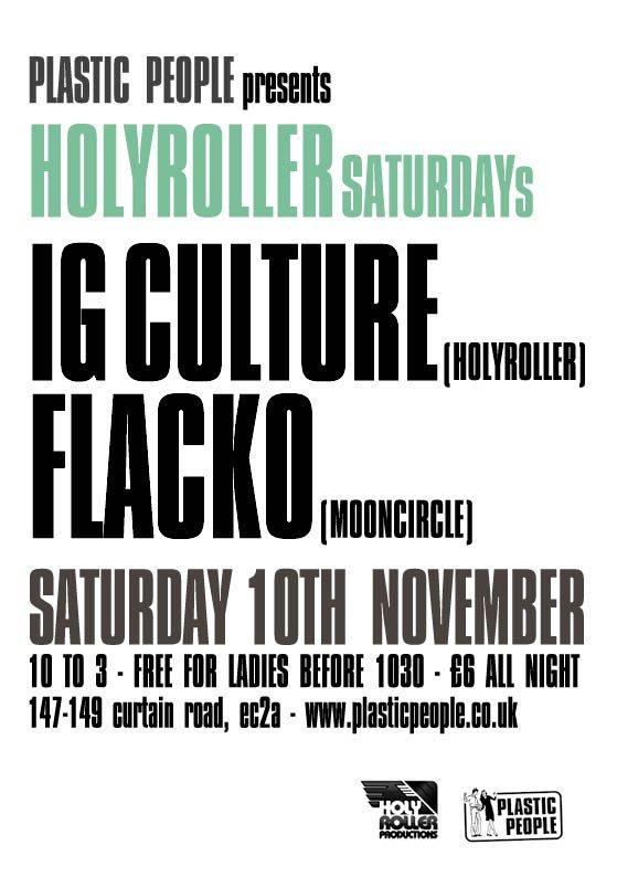 RA: Holyroller at Plastic People, London (2012)
