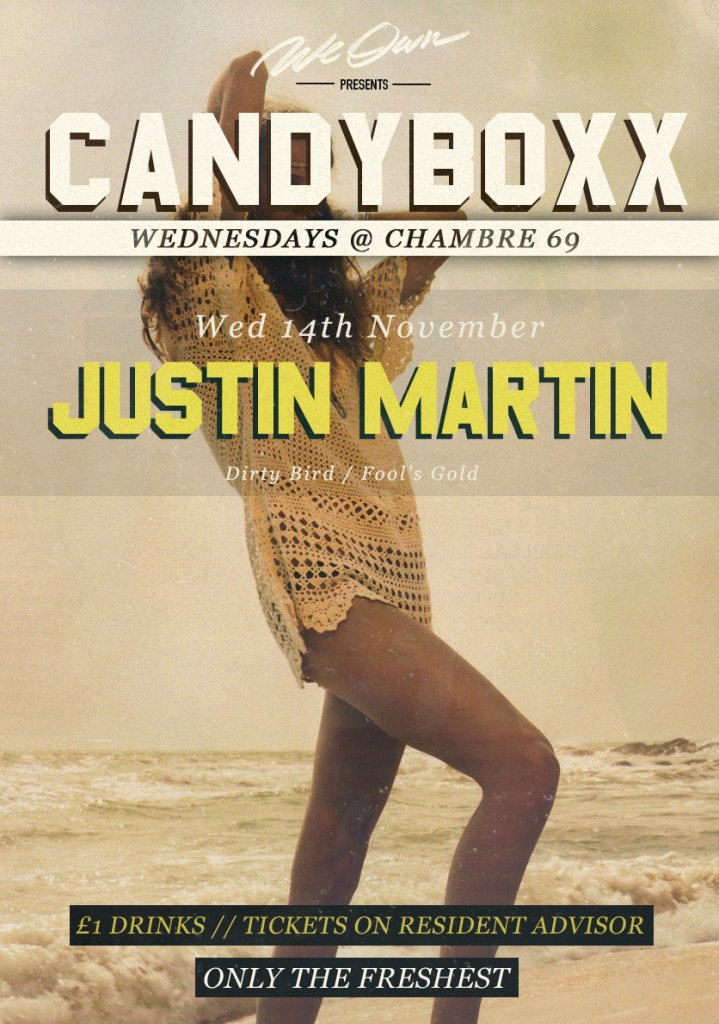 Ra we own presents cndybxx with justin martin at chambre for Chambre 69 club glasgow