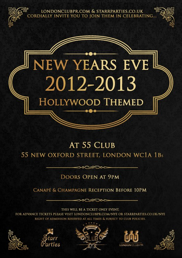 RA New Years Eve 201213 Hollywood Theme At 55 Club