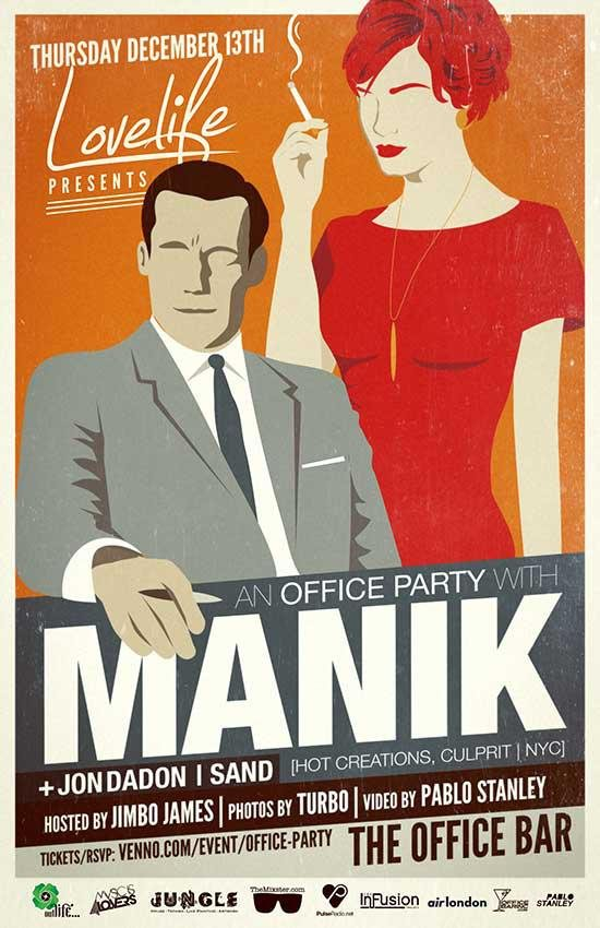 RA: Lovelife presents... An Office Party with Manik at Office Bar ...