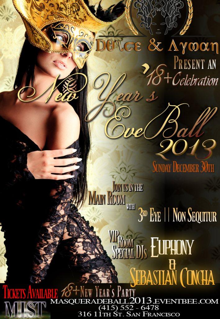 Ra Dolce Amp Ayman Presents New Year Masquerade Ball 2013