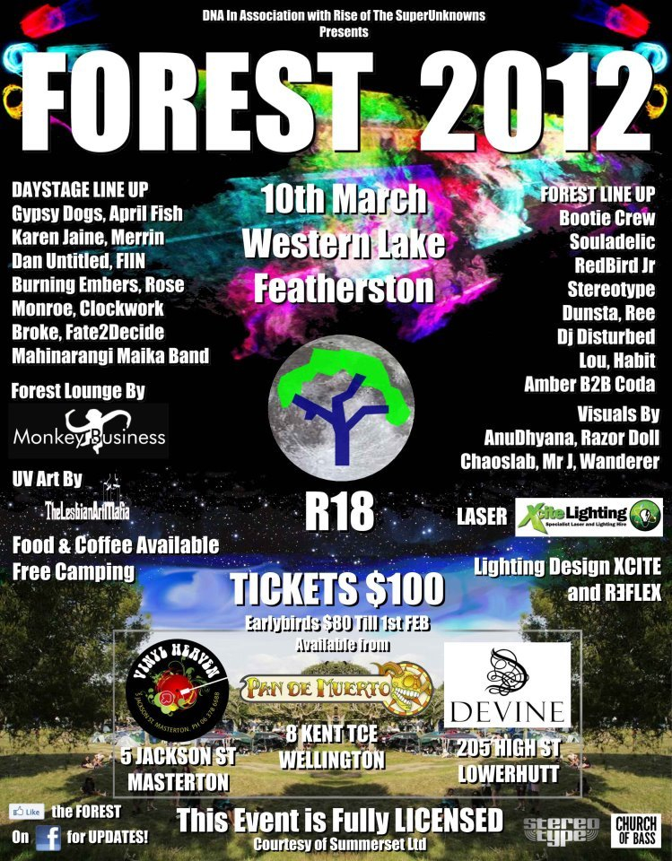Ra The Forest 2012 At Western Lake Featherston New