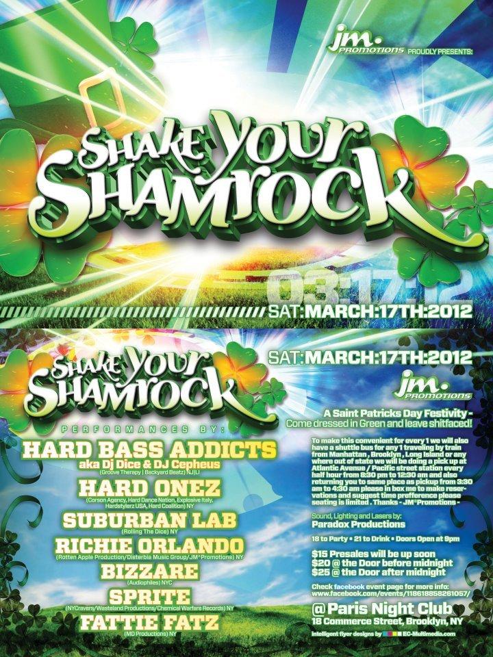 RA: Shake your Shamrock at Paris Night Club, New York (2012)