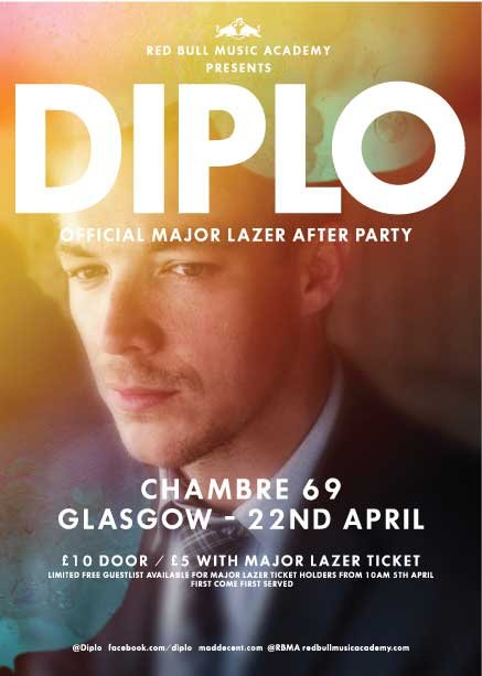 Ra rbma chambre69 present diplo at chambre 69 glasgow for Chambre 69 club glasgow
