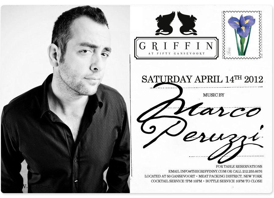 Ra Dj Marco Peruzzi At Griffin New York 2012