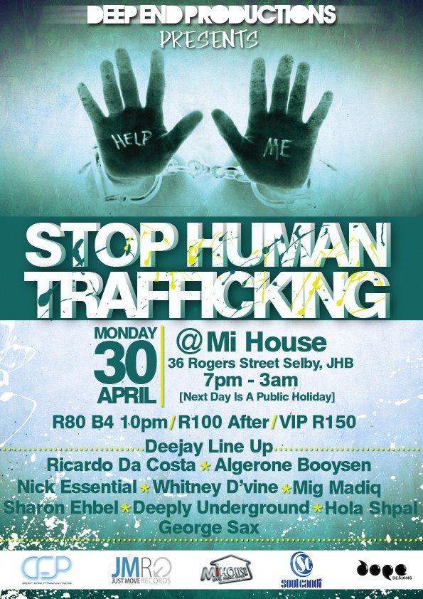 Ra stop human trafficking at mihouse johannesburg 2012
