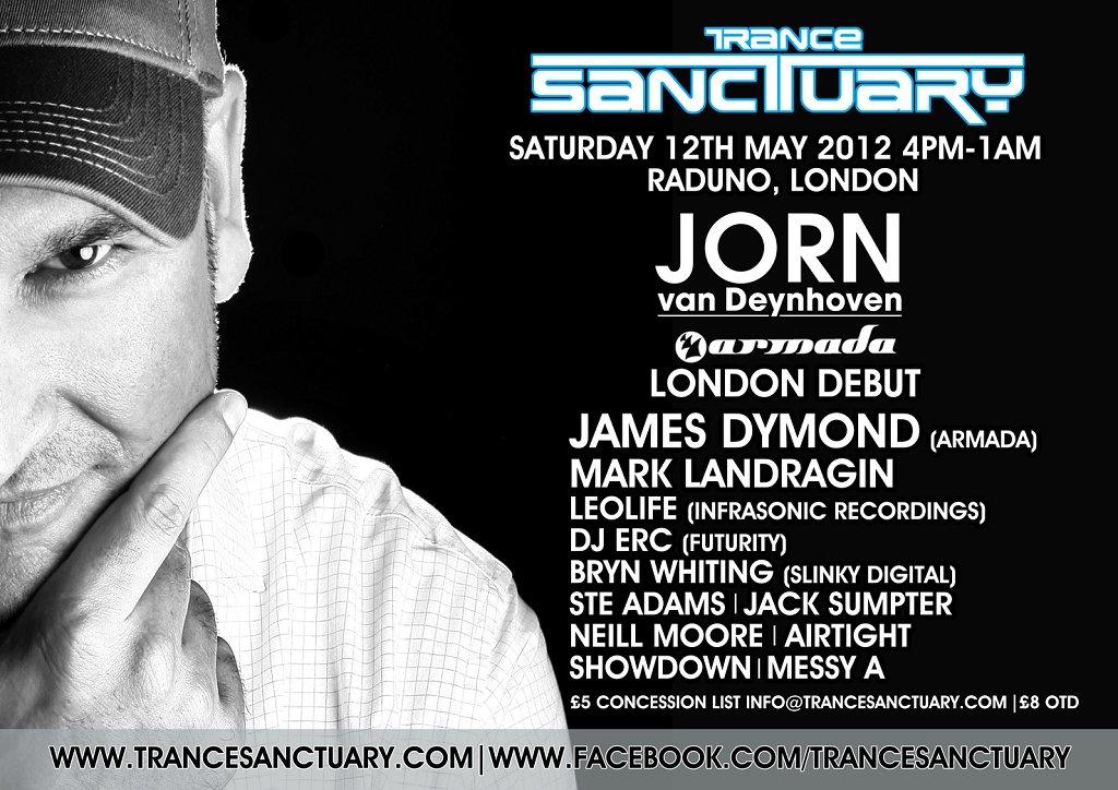 RA: Trance Sanctuary presents Jorn Van Deynhoven London Debut at ...
