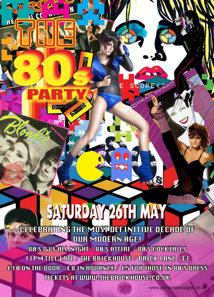 Ra the 80 39 s party at the brickhouse london 2012 for House music 80 s and 90 s