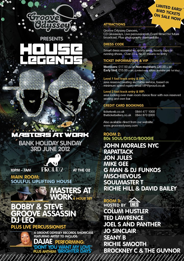 Ra masters at work at proud2 london 2012 for Classic house grooves dope jams nyc