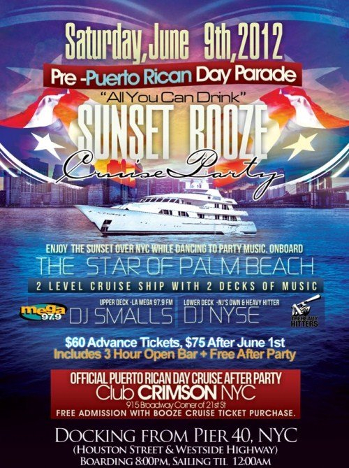 RA Pre Puerto Rican Parade Boat Party At Star Of Palm Beach New - Cruise ship party