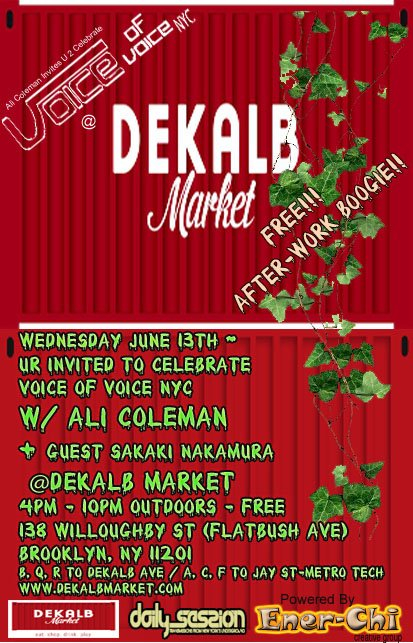 Ra ali coleman 39 s voice of voice nyc at dekalb market new for Coleman s fish market