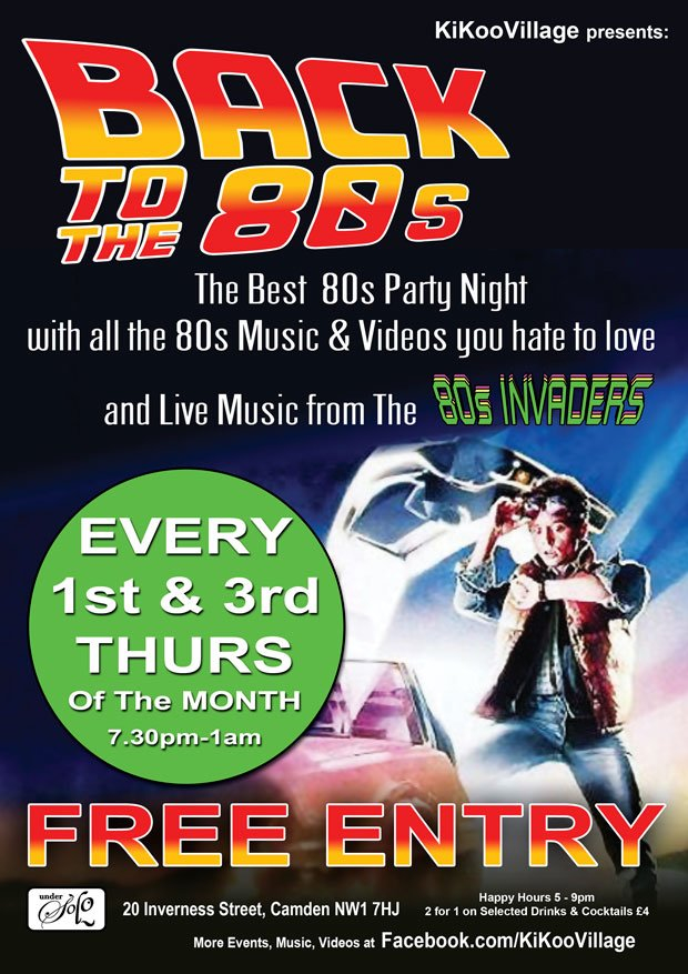 RA: Back to the 80s Music & Video Club in Camden at Undersolo
