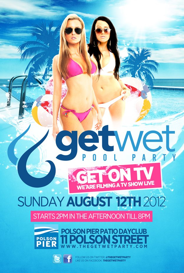 ra get wet pool party at polson pier toronto 2012