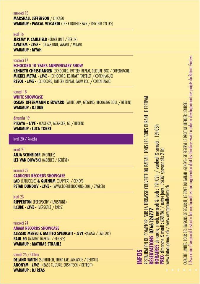Ra Overground Festival Amam Records Showcase At Le Bateau