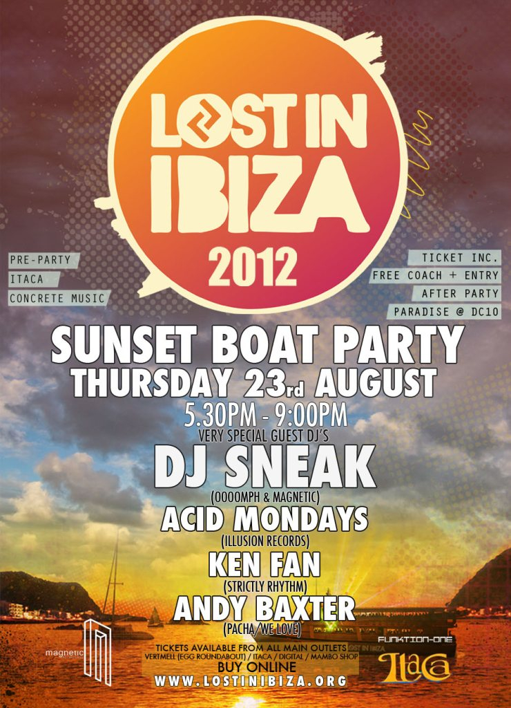 RA: Lost In Ibiza Boat Party with DJ Sneak & Acid Mondays at