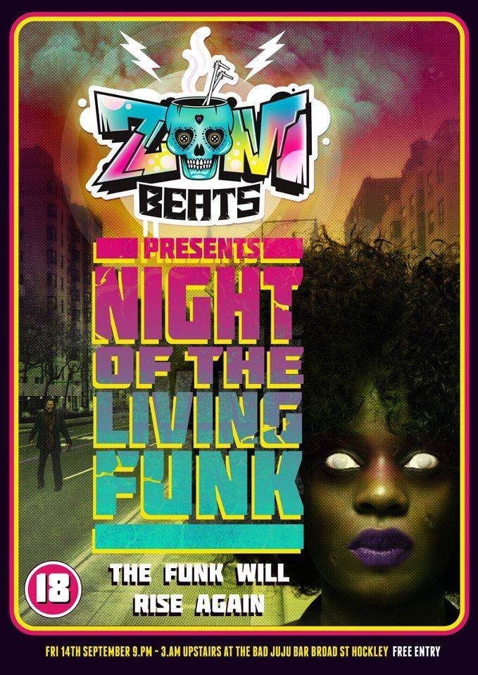 ra zombeats night of the living funk at bad juju bar. Black Bedroom Furniture Sets. Home Design Ideas