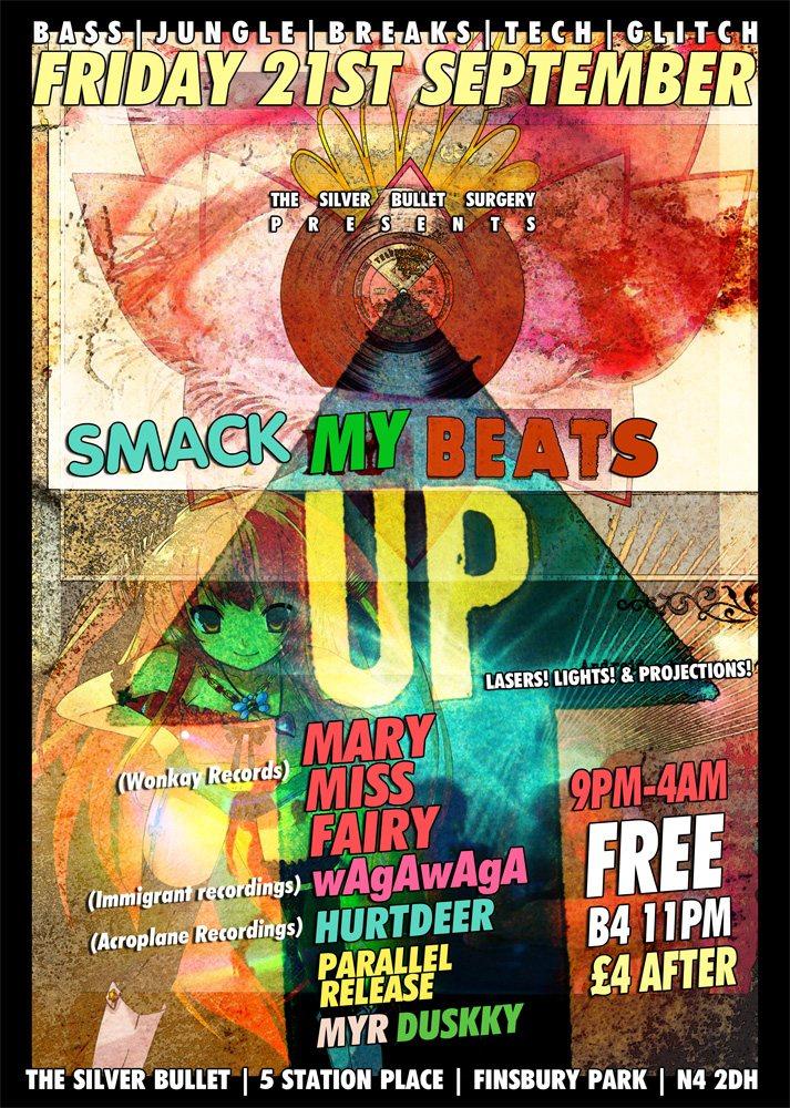 RA: [SMACK MY Beats UP] + Wagawaga & Mary Miss Fairy / Bass