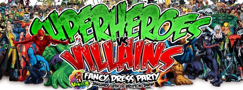 ra  vibes superheroes vs villains fancy dress party at